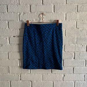 Blue and black mini skirt medium forever 21